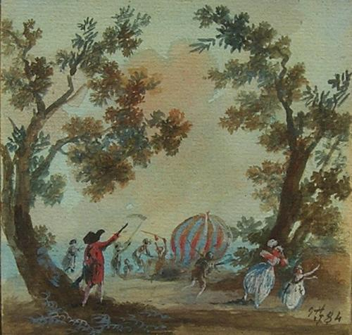 The destruction of Charles and Robert's balloon 'The Globe'