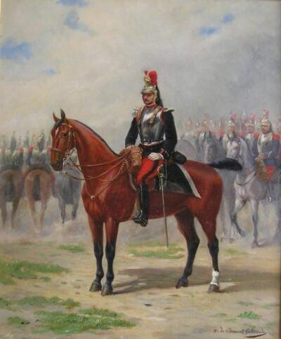 A French Cavalry Officer, c.1875