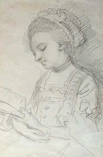Portrait of a Lady reading c.1765