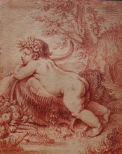 A pair of Bacchanalian Putti c.1750