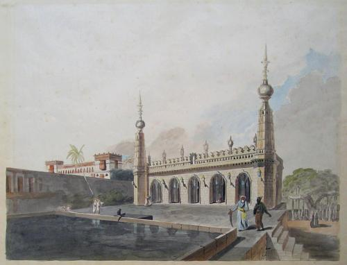 The Walajah Mosque at the Chepauk Palace, Madras
