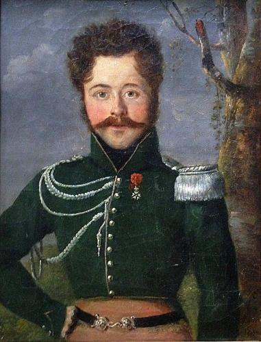 Portrait of a French Cavalry Lieutenant, 1817