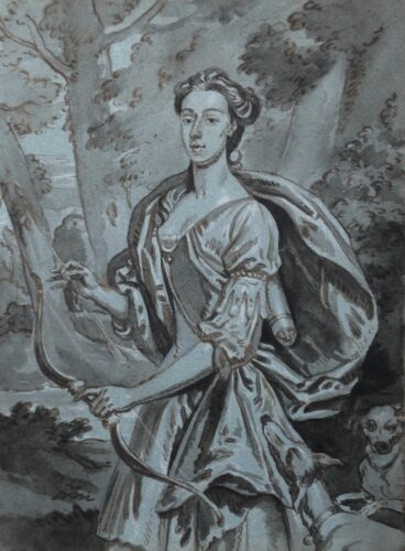Portrait of a Lady as Diana, the huntress