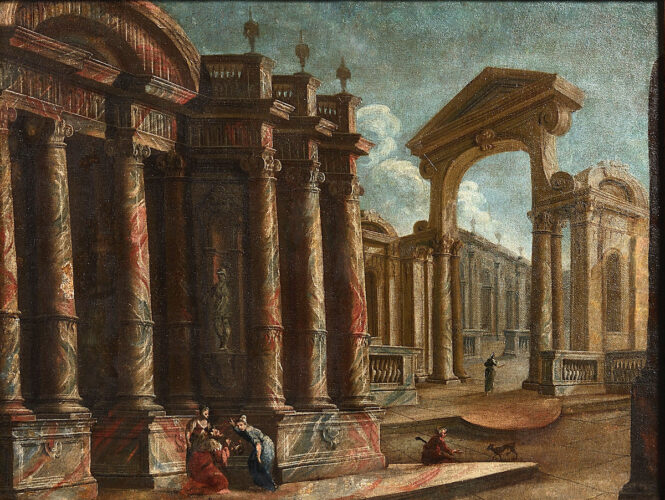 Architectural Capriccio with Figures – RESERVED